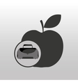 fitness sport bag icon apple vector image vector image
