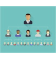 Flat icons of persons vector image vector image