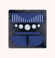 flat shading style icon music center vector image