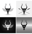 four bulls vector image vector image