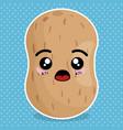 fresh potato vegetable kawaii character vector image