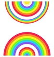 Greeting Card with a Set of Rainbows and the Sun vector image