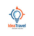 idea travel solution logo vector image
