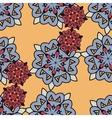 Japan styled mandalas endless seamless wallpaper vector image