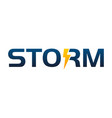 letter storm company vector image vector image