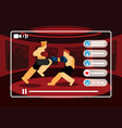 live streaming video mix martial art vector image