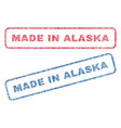 made in alaska textile stamps vector image vector image