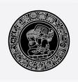 mayan symbols tattoo vector image vector image