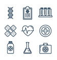 medical healthcare set icons vector image vector image