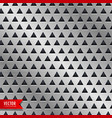metal triangle pattern background vector image vector image