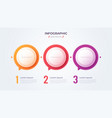 minimalistic infographic concept with 3 options vector image vector image