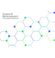 modern background with hexagons chemical bonds vector image vector image