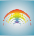 music rainbow wave colorful pulse audio player vector image
