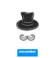 mustache and hat prostate vector image vector image