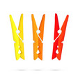 Pegs - Yellow Orange and Red vector image vector image