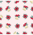 pink jingle bells merry christmas seamless vector image vector image