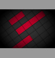 red light arrow black with wavy mesh background vector image