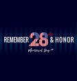 Remember and honor memorial day usa navy blue post