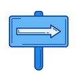 road sign line icon vector image vector image