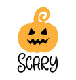 scary pumpkin halloween party poster vector image vector image