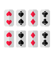 set of card suits vector image