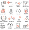 Set of icons related to business management - 8 vector image vector image