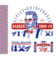 set vintage barbershop vintage labels badges vector image