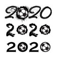 soccer 2020 new year numbers vector image vector image