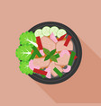 spicy and sour beef salad in thai style vector image vector image