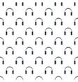 stereo headphones pattern seamless vector image vector image