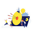 target goal business marketing successful action vector image