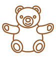 teddy bear logo vector image