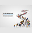 template with a crowd of business people standing vector image vector image