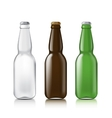 Templates realistic bottles