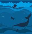 the prophet jonah and the whale vector image vector image