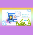 time management analysis inspiring idea banner vector image vector image