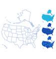 usa map set vector image