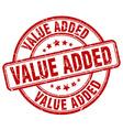 value added red grunge round vintage rubber stamp vector image
