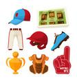 various symbols baseball vector image vector image