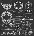 Vintage floral decorative elements vector image vector image