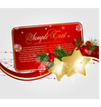 xmas floral cards vector image vector image