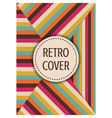 317retro template design vector image