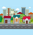 a modern city landscape vector image vector image