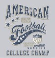american football college champ crack vector image vector image