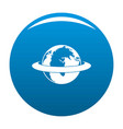 around the earth icon blue vector image