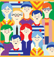avatars character people set flat female male vector image vector image