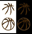 basketball grunge banners vector image vector image