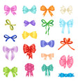 bow bowknot or ribbon for decorating gifts vector image vector image