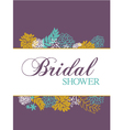 bridal shower card vector image