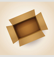 brown cardboard box vector image vector image